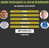 Jannik Vestergaard vs Jarrad Branthwaite h2h player stats