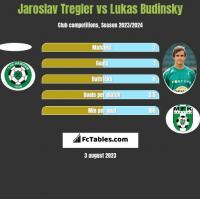 Jaroslav Tregler vs Lukas Budinsky h2h player stats