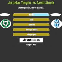 Jaroslav Tregler vs David Simek h2h player stats