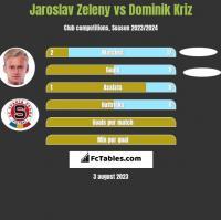 Jaroslav Zeleny vs Dominik Kriz h2h player stats