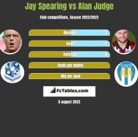 Jay Spearing vs Alan Judge h2h player stats