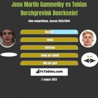 Jens Martin Gammelby vs Tobias Borchgrevink Boerkeeiet h2h player stats
