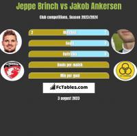 Jeppe Brinch vs Jakob Ankersen h2h player stats