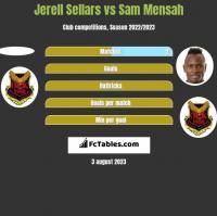 Jerell Sellars vs Sam Mensah h2h player stats