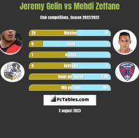 Jeremy Gelin vs Mehdi Zeffane h2h player stats