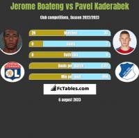 Jerome Boateng vs Pavel Kaderabek h2h player stats