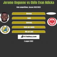 Jerome Onguene vs Obite Evan Ndicka h2h player stats