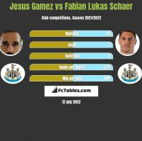 Jesus Gamez vs Fabian Lukas Schaer h2h player stats