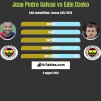 Joao Pedro Galvao vs Edin Dzeko h2h player stats