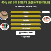 Joey van den Berg vs Baggio Wallenburg h2h player stats