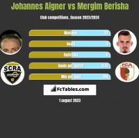 Johannes Aigner vs Mergim Berisha h2h player stats