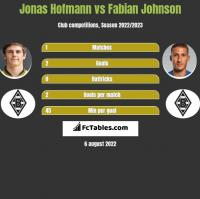 Jonas Hofmann vs Fabian Johnson h2h player stats