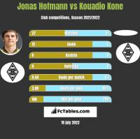 Jonas Hofmann vs Kouadio Kone h2h player stats