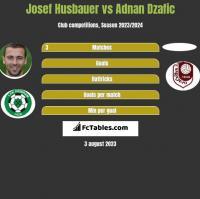 Josef Husbauer vs Adnan Dzafic h2h player stats