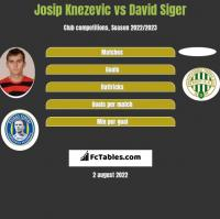 Josip Knezevic vs David Siger h2h player stats