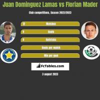 Juan Dominguez Lamas vs Florian Mader h2h player stats