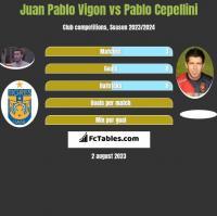 Juan Pablo Vigon vs Pablo Cepellini h2h player stats