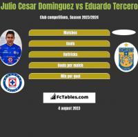 Julio Cesar Dominguez vs Eduardo Tercero h2h player stats
