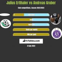 Julius Ertlhaler vs Andreas Gruber h2h player stats