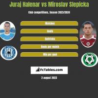 Juraj Halenar vs Miroslav Slepicka h2h player stats
