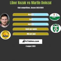 Libor Kozak vs Martin Dolezal h2h player stats