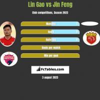 Lin Gao vs Jin Feng h2h player stats