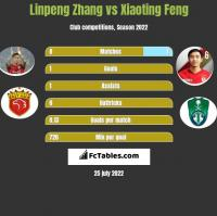 Linpeng Zhang vs Xiaoting Feng h2h player stats