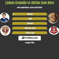 Ljuban Crepulja vs Adrian Ioan Hora h2h player stats