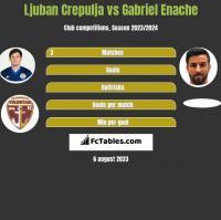 Ljuban Crepulja vs Gabriel Enache h2h player stats