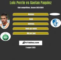 Loic Perrin vs Gaetan Paquiez h2h player stats