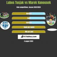Lubos Tusjak vs Marek Hanousek h2h player stats