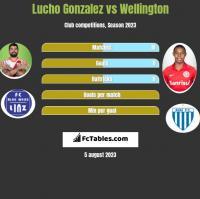Lucho Gonzalez vs Wellington h2h player stats