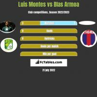Luis Montes vs Blas Armoa h2h player stats
