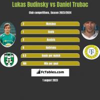 Lukas Budinsky vs Daniel Trubac h2h player stats