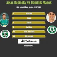 Lukas Budinsky vs Dominik Masek h2h player stats