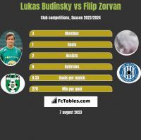 Lukas Budinsky vs Filip Zorvan h2h player stats