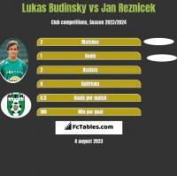 Lukas Budinsky vs Jan Reznicek h2h player stats