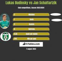 Lukas Budinsky vs Jan Schaffartzik h2h player stats