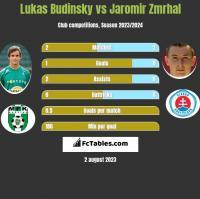 Lukas Budinsky vs Jaromir Zmrhal h2h player stats