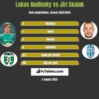 Lukas Budinsky vs Jiri Skalak h2h player stats