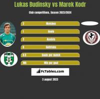 Lukas Budinsky vs Marek Kodr h2h player stats