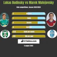 Lukas Budinsky vs Marek Matejovsky h2h player stats