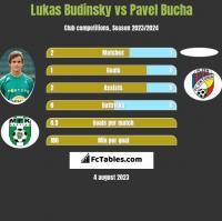 Lukas Budinsky vs Pavel Bucha h2h player stats