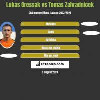 Lukas Gressak vs Tomas Zahradnicek h2h player stats