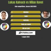 Lukas Kalvach vs Milan Havel h2h player stats