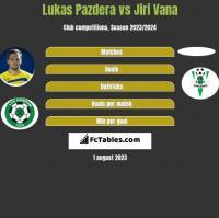 Lukas Pazdera vs Jiri Vana h2h player stats