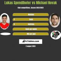 Lukas Spendlhofer vs Michael Novak h2h player stats