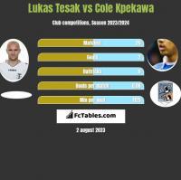 Lukas Tesak vs Cole Kpekawa h2h player stats