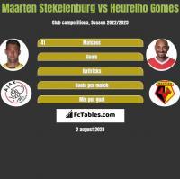 Maarten Stekelenburg vs Heurelho Gomes h2h player stats