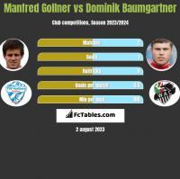 Manfred Gollner vs Dominik Baumgartner h2h player stats
